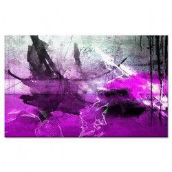 HEXOA Tableau déco abstrait Estampe 80x50 cm violet