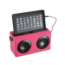 CLIPSONIC TES169R Enceinte Bluetooth - Rose