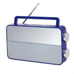 CLIPSONIC RA1048B Radio analogique AM/FM - Bleu