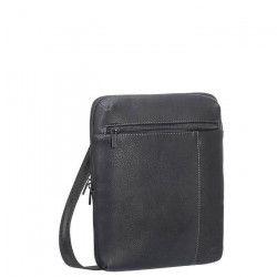 RIVACASE Besace pour tablette 10,1`` - Cuir - Noir