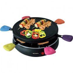 TRIOMPH ETF1617 Raclette Grill ? Jusqu`a 6 personnes ? 24,8 cm de diametre ? 800W - Noir