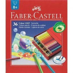 FABER-CASTELL Boîte de 36 Crayons de couleur Colour Grip Studio - Coloris assortis