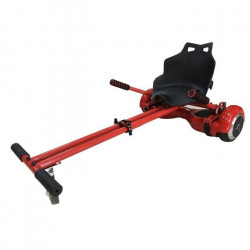 TAAGWAY Kit Kart A3 Siege rigide pour Gyropode 6,5`, 8` et 10` - Rouge - Barre centrale double - Charge Max : 120kg