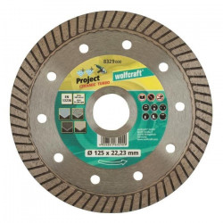WOLFCRAFT Disque diamant turbo - Diametre: 125 x 22.2 mm