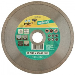 WOLFCRAFT Disque diamant turbo ProCe - Diametre: 180 x 25,4 mm