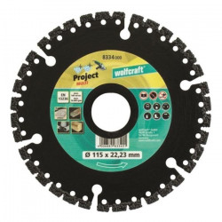 WOLFCRAFT Disque diamant Pro Multi - Diametre: 115 x 22,2 mm