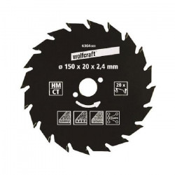 WOLFCRAFT Lame scie circulaire CT - 22 dents - Ø 180 x 20 mm