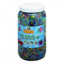 HAMA Midi Pot 13000 Perles Mélange Pailletés