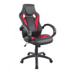 HAMILTON Chaise gamer baquet noir et rouge