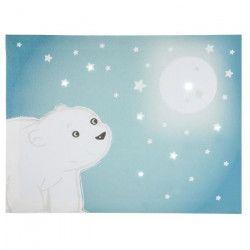 DOMIVA Toile Lumineuse Scintillante Flocon l`ourson - Ciel de lit