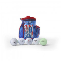 SECOND CHANCE Lot de 30 Balles et Tees de Golf en pochette - Multicolore