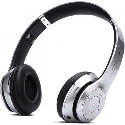 PLATYNE CAS 16 Casque Bluetooth avec lecteur MP3 et micro intégré - Argent
