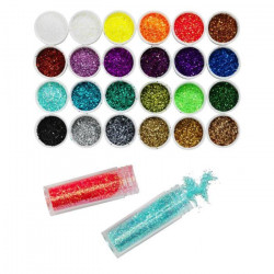 PANDURO Lot de 24 Paillettes - Multicolore