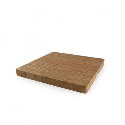 YONG Planche a découper - 37xH3,3cm - Bambou - Carré