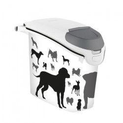 CURVER Conteneur a croquettes empilable 6kg - Blanc - Pour chien