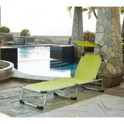 BEAU RIVAGE Chaise longue et pare-soleil Bikini en aluminium - Vert