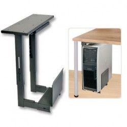 LINDY Support PC extractible pour montage sous bureau - Métal - Noir