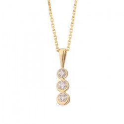 LE DIAMANTAIRE Chaîne et Pendentif Or Jaune 375° et Diamants Femme