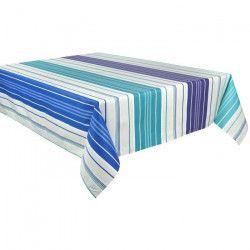 VENT DU SUD Nappe de table enduite Capbreton 100% coton - 160 x 250 cm - Vert menthe