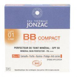 EAU THERMALE JONZAC Perfécteur de teint minéral 5-en-1 BB Compact solaire 01 clair - 12 g