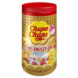 CHUPA CHUPS TUBO 150 Sucettes Assorties Fruits et Cola