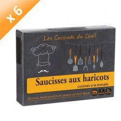 Lot de 6 Saucisses aux Haricots cuisinés a la Tomate 380G - Les Conserves du GASCON