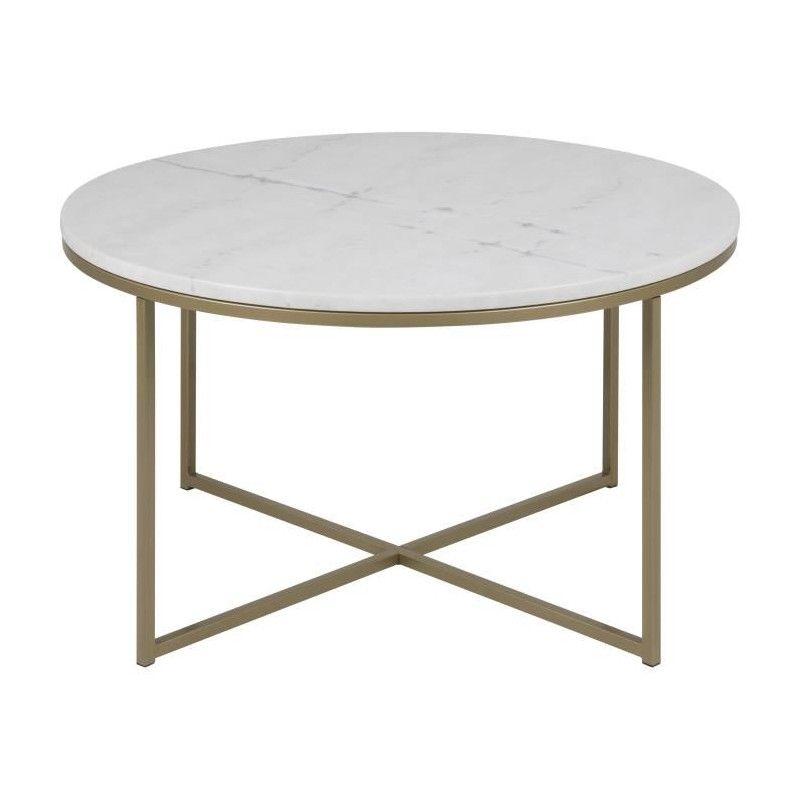 Blanc L Marbre Contemporain Ronde Peint Alisma Guangxi Métal LégerPlateau Style Table Basse En Laiton GMqSULzVp