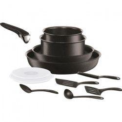 TEFAL Batterie de cuisine Ingenio Performance - L6549402 - 12 pieces - 16/18/22/26cm - Tous feux dont induction -