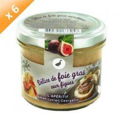 Lot de 6 Délices de Foie Gras aux Figues 100g LUCIEN GEORGELIN