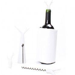 Kit Foret blanc - 1 tire-bouchon, 1 housse rafraichissante et 2 bouchons.