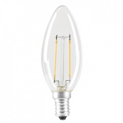 EXPERT LINE Ampoule LED E14 SMD a filament 2 W équivalent a 24 W blanc chaud