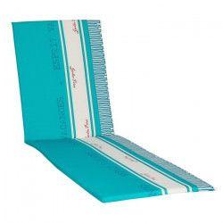 JARDIN PRIVE Coussin bain de soleil Fouta - 186x56x5 cm - Bleu