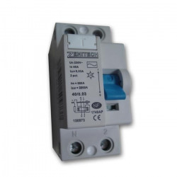 Interrupteur différentiel 40/2 30 mA Type AC Zenitech NF