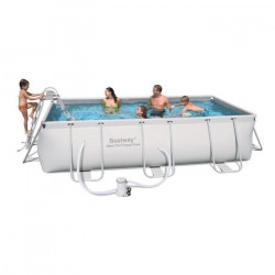 BESTWAY Kit Piscine rectangulaire tubulaire L4,04 x l2,01 x H1,00m