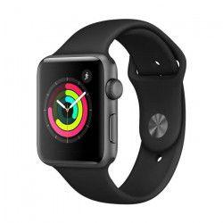 APPLE Watch Series 3 GPS - Boîtier 42 mm Gris sidéral Aluminium - Bracelet Sport Noir