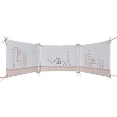 DISNEY Tour de lit Marie (Les Aristochats) - Pour lit de 8 x 8 cm ou 8  x 8 cm