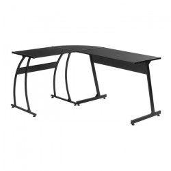 ARLETTE Bureau d`angle contemporain en métal noir - L 120 cm