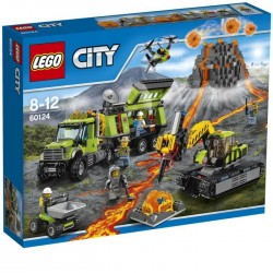LEGO City 60124 La Base d'Exploration du Volcan