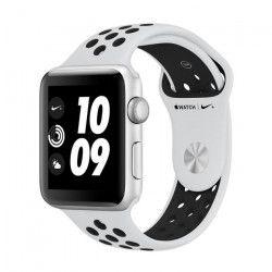 APPLE Watch Nike+ GPS - Boîtier 42 mm Argent Aluminium - Bracelet Nike Sport Pure Platinum / Noir