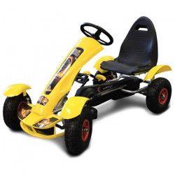 MGM Kart Jaune en Métal avec Roues Gonflables 113 x 62 x 32 cm