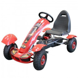 MGM Kart Rouge en Métal avec Roues Gonflables 113 x 62 x 32 cm