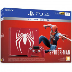 PS4 1 To Rouge Marvel`s Spider-Man Limited Edition + Marvel`s Spider-Man Jeu PS4