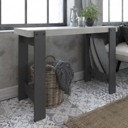 LOFTY Console style industriel effet béton et gris ombre - L 110 cm