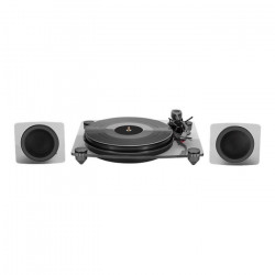 BIGBEN TD115NSPS Tourne disques smoky acrylic avec speaker, BT, PC encoding - Noir