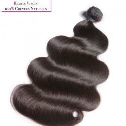 KNJ HAIR Tissage brésilien - Cheveux humains - Ondulé 14`` - Noir naturel