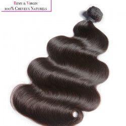 KNJ HAIR Tissage brésilien - Cheveux humains - Ondulé 20`` - Noir naturel