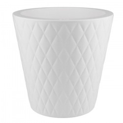 ELHO Pot de fleurs Pure Straight Crystal - 47 cm - Blanc