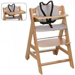 HAUCK Chaise Haute en Bois pour bébé Évolutive Beta + / natural