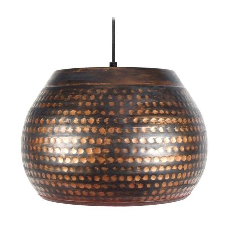 mumbai suspension m tal martel e diametre 35 cm noir et. Black Bedroom Furniture Sets. Home Design Ideas