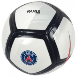 NIKE Ballon de football Pitch PSG - Blanc et noir - Taille 5